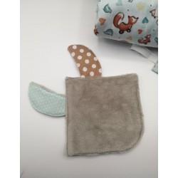 Pochette à savon noir/fleurs
